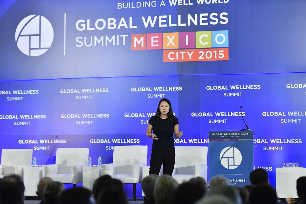 Maggie Hsu Presenting at Global Wellness Summit 2015